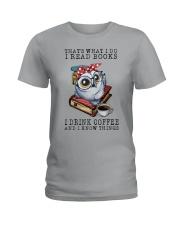 Owl That's What I Do I Read Books Coffee Shirt Ladies T-Shirt thumbnail