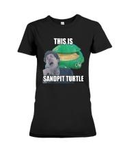 This Is Sandpit Turtle Shirt Premium Fit Ladies Tee thumbnail