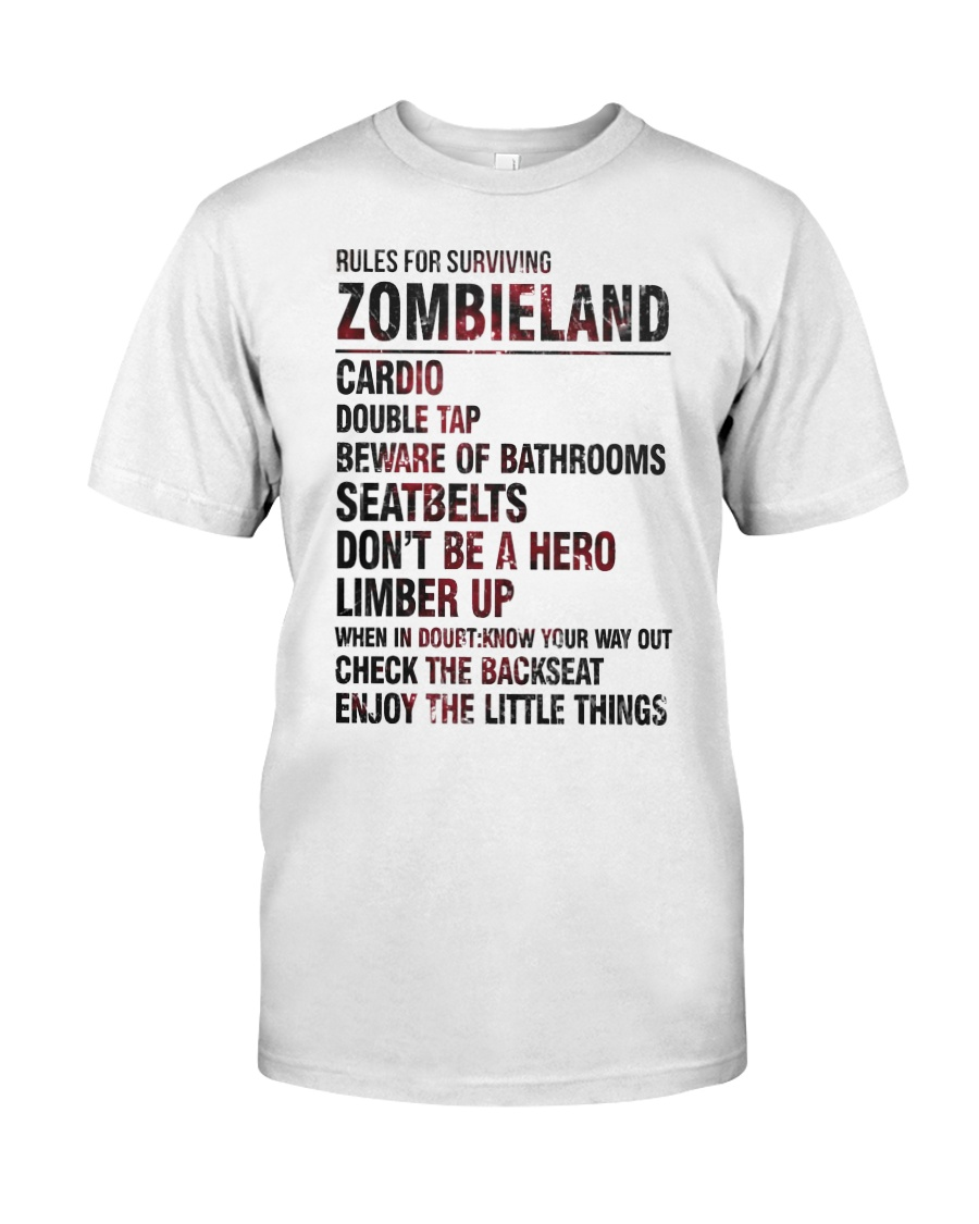 Rules For Surviving Zombie Land Cardio Shirt Classic T-Shirt