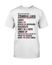 Rules For Surviving Zombie Land Cardio Shirt Premium Fit Mens Tee thumbnail