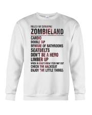 Rules For Surviving Zombie Land Cardio Shirt Crewneck Sweatshirt thumbnail