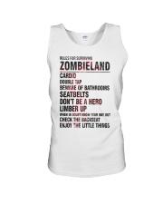 Rules For Surviving Zombie Land Cardio Shirt Unisex Tank thumbnail