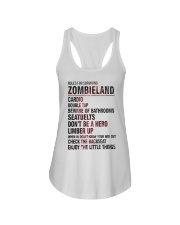 Rules For Surviving Zombie Land Cardio Shirt Ladies Flowy Tank thumbnail