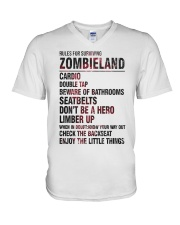 Rules For Surviving Zombie Land Cardio Shirt V-Neck T-Shirt thumbnail