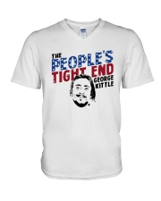 The People's Tight End George Kittle Shirt V-Neck T-Shirt thumbnail