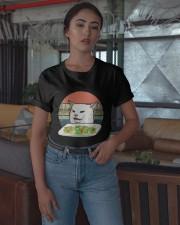 Vintage Retro Woman Yelling At Table Dinner Shirt Classic T-Shirt apparel-classic-tshirt-lifestyle-05
