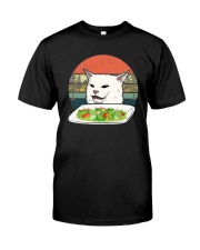 Vintage Retro Woman Yelling At Table Dinner Shirt Classic T-Shirt front