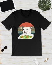 Vintage Retro Woman Yelling At Table Dinner Shirt Classic T-Shirt lifestyle-mens-crewneck-front-17