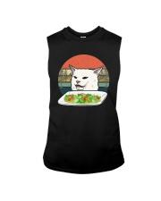 Vintage Retro Woman Yelling At Table Dinner Shirt Sleeveless Tee thumbnail