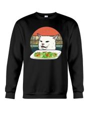 Vintage Retro Woman Yelling At Table Dinner Shirt Crewneck Sweatshirt thumbnail