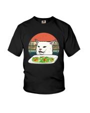 Vintage Retro Woman Yelling At Table Dinner Shirt Youth T-Shirt thumbnail