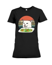 Vintage Retro Woman Yelling At Table Dinner Shirt Premium Fit Ladies Tee thumbnail