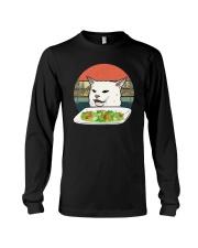 Vintage Retro Woman Yelling At Table Dinner Shirt Long Sleeve Tee thumbnail