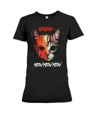 Cat Chchch Meow Meow Meow Shirt Premium Fit Ladies Tee thumbnail