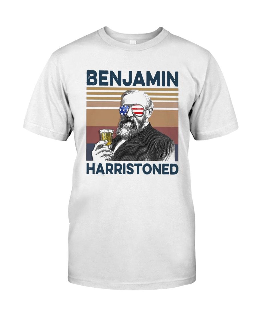 Vintage Drinking Beer Benjamin Harristoned Shirt Classic T-Shirt