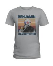 Vintage Drinking Beer Benjamin Harristoned Shirt Ladies T-Shirt thumbnail