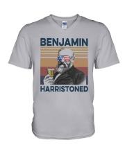 Vintage Drinking Beer Benjamin Harristoned Shirt V-Neck T-Shirt thumbnail