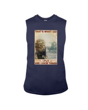 Cat Thats What I Do I Fly And I Know Things Shirt Sleeveless Tee thumbnail