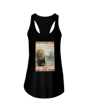 Cat Thats What I Do I Fly And I Know Things Shirt Ladies Flowy Tank thumbnail