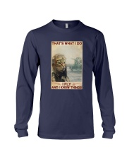 Cat Thats What I Do I Fly And I Know Things Shirt Long Sleeve Tee thumbnail