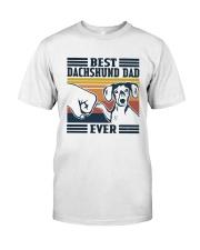 Vintage Best Dachshund Dad Ever Shirt Premium Fit Mens Tee thumbnail