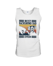 Vintage Best Dachshund Dad Ever Shirt Unisex Tank thumbnail