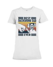 Vintage Best Dachshund Dad Ever Shirt Premium Fit Ladies Tee thumbnail