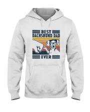 Vintage Best Dachshund Dad Ever Shirt Hooded Sweatshirt thumbnail