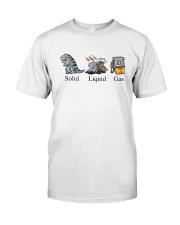 Dinosaur Solid Liquid Gas Shirt Classic T-Shirt front