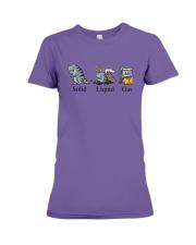 Dinosaur Solid Liquid Gas Shirt Premium Fit Ladies Tee thumbnail