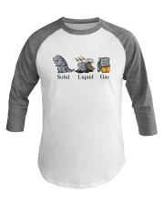 Dinosaur Solid Liquid Gas Shirt Baseball Tee thumbnail