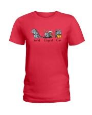 Dinosaur Solid Liquid Gas Shirt Ladies T-Shirt thumbnail
