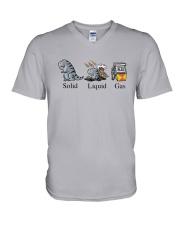 Dinosaur Solid Liquid Gas Shirt V-Neck T-Shirt thumbnail