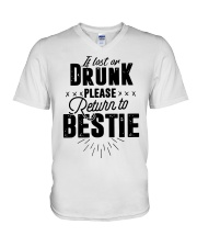 If Lost Or Drunk Please Bestie Shirt V-Neck T-Shirt thumbnail