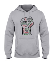 Strong Hand Fight Like Malcolm Educated Shirt Hooded Sweatshirt thumbnail