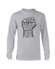 Strong Hand Fight Like Malcolm Educated Shirt Long Sleeve Tee thumbnail