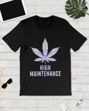 Weed High Maintenance Shirt Classic T-Shirt lifestyle-mens-crewneck-front-17