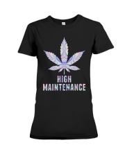 Weed High Maintenance Shirt Premium Fit Ladies Tee thumbnail