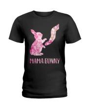 Floral Mama Bunny Shirt Ladies T-Shirt thumbnail