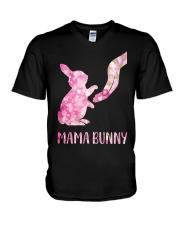 Floral Mama Bunny Shirt V-Neck T-Shirt thumbnail