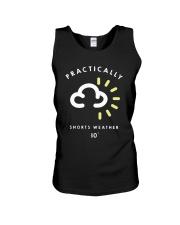 Practically Shorts Weather 10 Shirt Unisex Tank thumbnail
