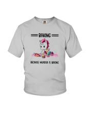 Unicorn Baking Because Murder Is Wrong Shirt Youth T-Shirt thumbnail