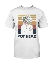 Vintage Girl Pot Head Shirt Classic T-Shirt front