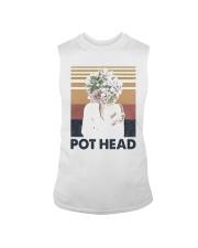 Vintage Girl Pot Head Shirt Sleeveless Tee thumbnail