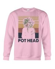 Vintage Girl Pot Head Shirt Crewneck Sweatshirt thumbnail