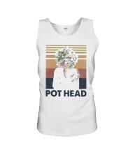 Vintage Girl Pot Head Shirt Unisex Tank thumbnail