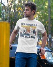 Vintage Best Frienchie Dad Ever Shirt Classic T-Shirt apparel-classic-tshirt-lifestyle-front-44