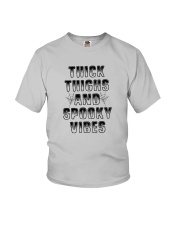 Thick Thighs And Spooky Vibes Shirt Youth T-Shirt thumbnail