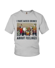 Vintage I Have Mixed Drinks About Feelings Shirt Youth T-Shirt thumbnail