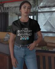 50th Birthday Quarantine T Shirt Classic T-Shirt apparel-classic-tshirt-lifestyle-05